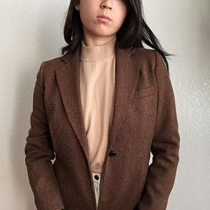 Orange and Brown Autumnal Blazer